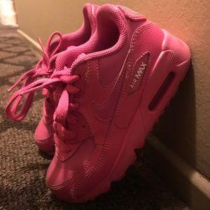 Girls Pink Nike Air Max Size 12C